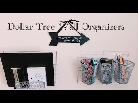 DIY Dollar Tree IKEA Hack Wall Organizers - $5