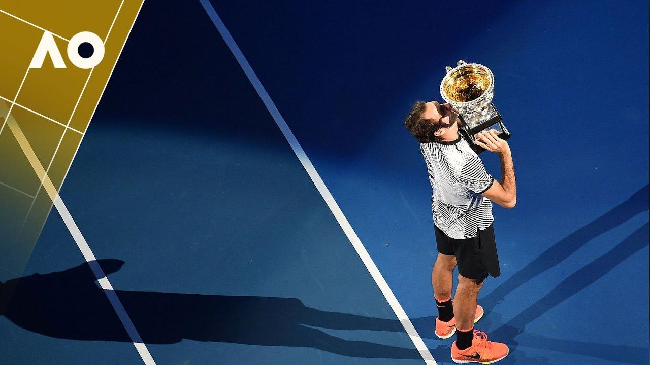 Roger Federer - Championship Lap of Honour   Australian Open 2017