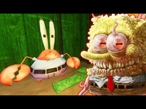 СТРАШНЫЙ ПОДВАЛ Мистера Крабса и СТРАШНЫЙ СПАНЧ БОБ в Scary SpongeBob Horror