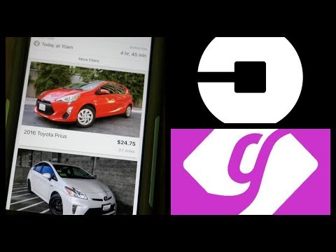 Uber driving with a GetAround rental car step by step