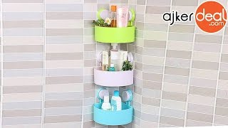 triangle-shaped bathroom corner shelf | bathroom shelf
