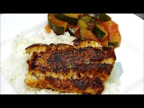 Video Recipe for blackened catfish