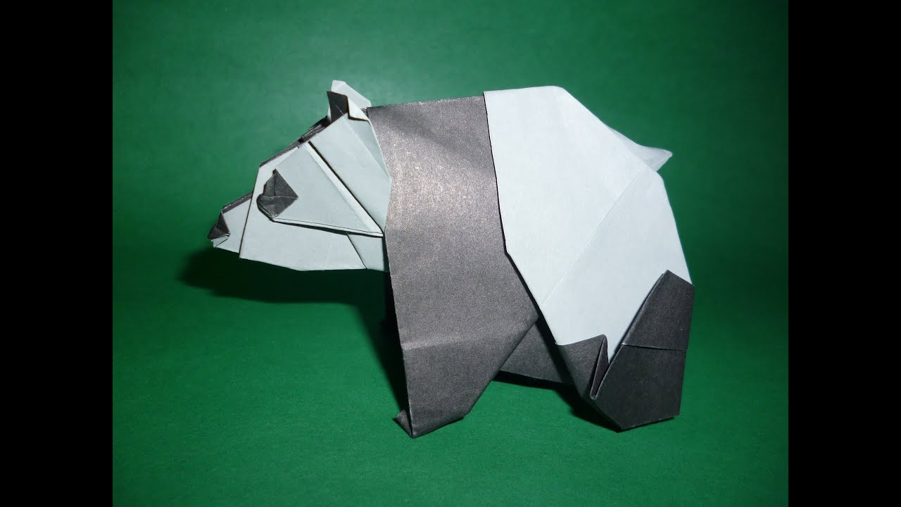 origami panda instructions fumiaki kawahata youtube