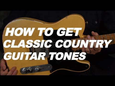 How to get a classic country guitar tone lesson video