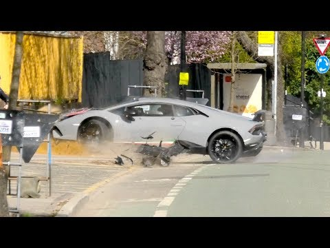 Lamborghini Performante LOSES Control And CRASHES Into A Tree!