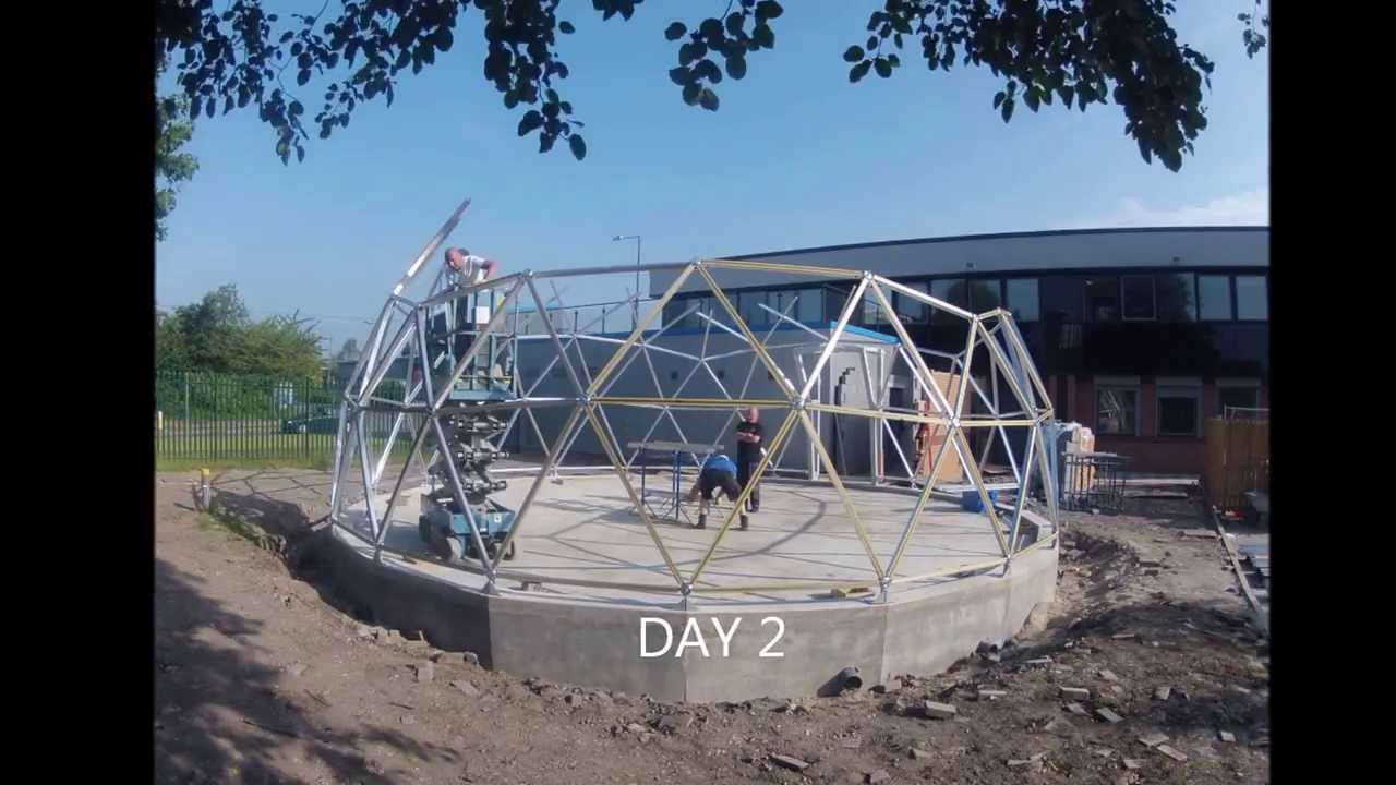 Geodesic Dome Time Lapse Build Using Solardome 174 Pro
