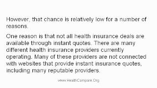 Will Instant Health Insurance Quotes Give Me The Best Deal?
