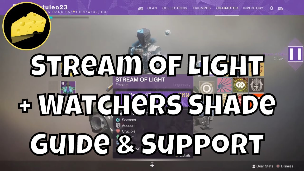 Stream of Light Emblem and Watchers Shade Shader How To Guide And Support Link