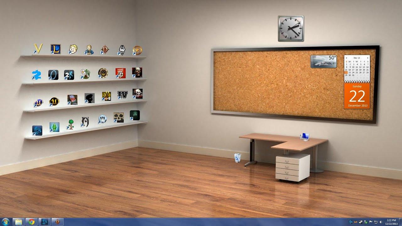 Classic 3d Desktop Workplace Wallpaper Як прикольно оформити робочий стіл Youtube