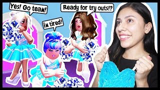 TRYING OUT FOR THE CHEER TEAM! WILL I MAKE IT? - Roblox Roleplay - Royale High School