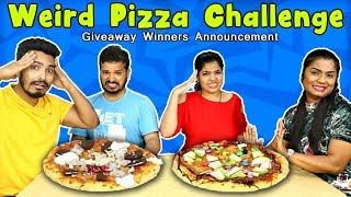 WEIRD PIZZA EATING COMPETITION | TWISTED PIZZA EATING COMPETITION AND GIVEAWAY WINNERS ANNOUNCEMENT