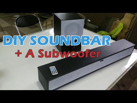 DIY Bluetooth Sound System | Soundbar And Subwoofer Combo