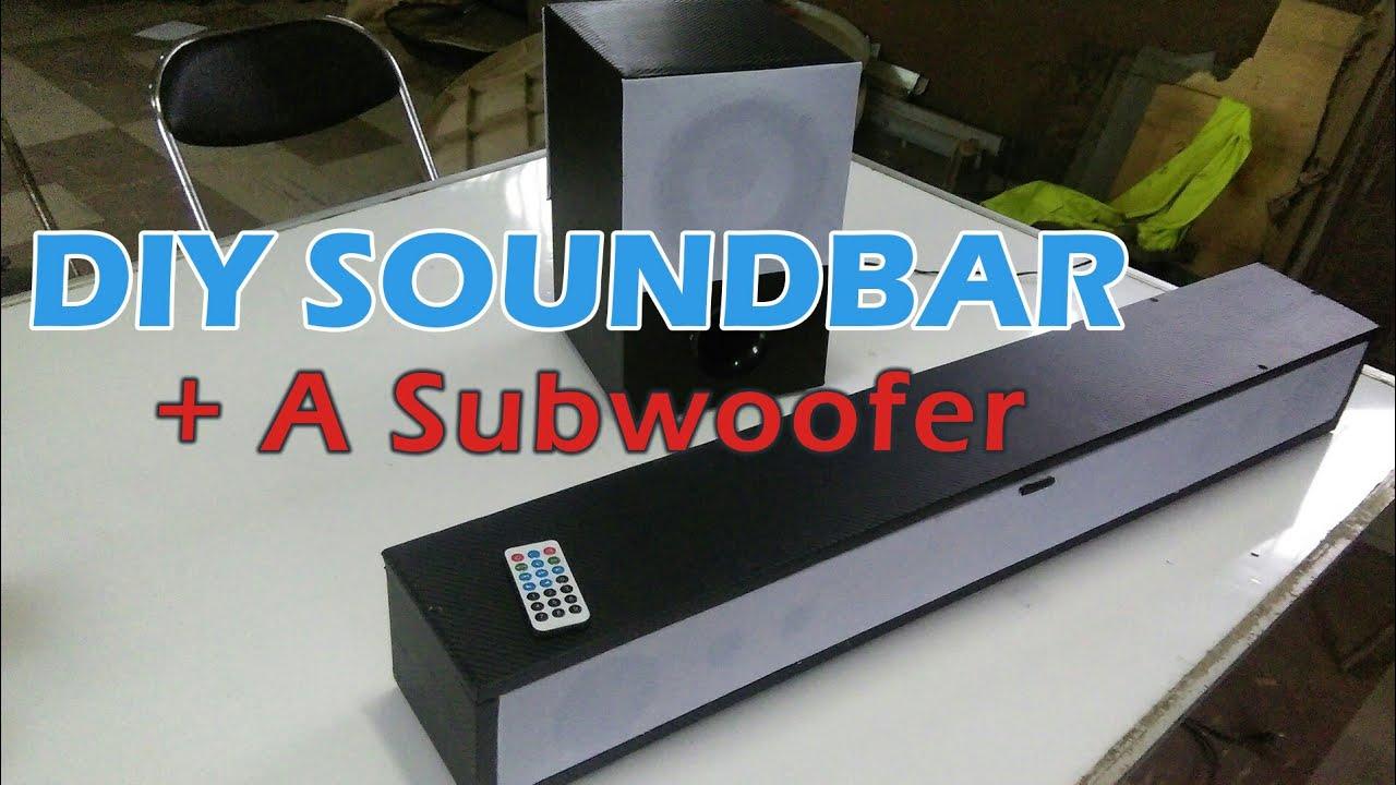 DIY Bluetooth Sound System   Soundbar And Subwoofer Combo ...