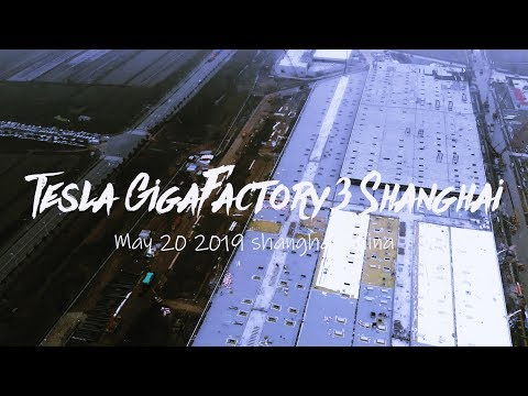 Tesla Gigafactory 3 building in Shanghai looks almost complete