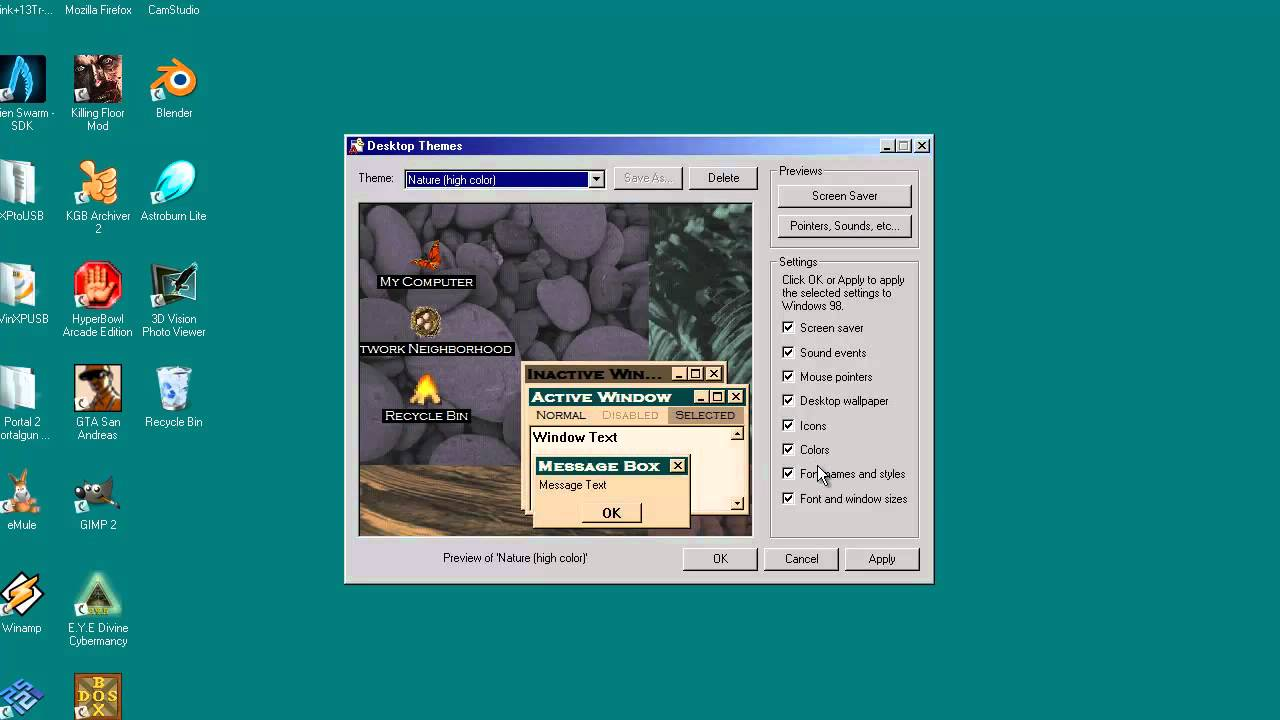 Windows 98 Themes for any newer OS (November 2011 Situation)