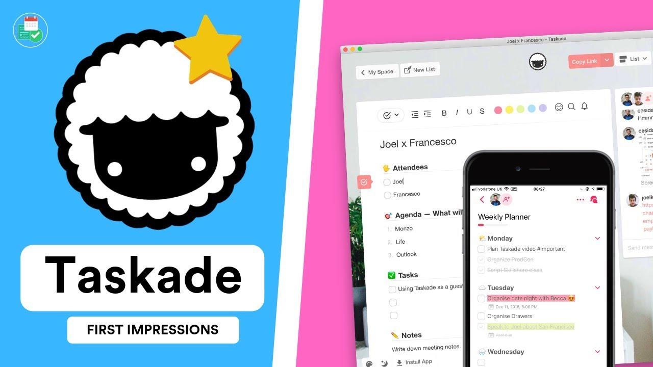 Taskade: Full Review (2019) - YouTube
