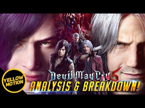 DEVIL MAY CRY 5 | V Gameplay Trailer Breakdown / Nero, Dante (Majin) & Demon King In-depth Analysis! thumbnail