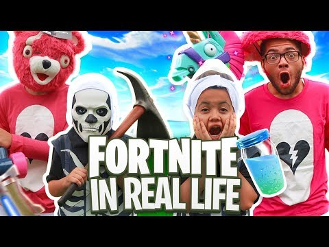 FORTNITE IN REAL LIFE!!! CRAZY VLOG! JAYDEN PRANKS ME!!! *RARE* SKULL TROOPER AND CUDDLE TEAM LEADER
