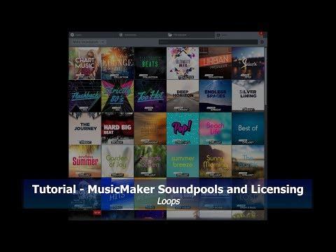 Tutorial 020 Magix MusicMaker Soundpools and Licenses