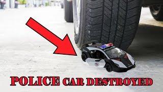 Experiment Car Vs Police Super Car Destroyed