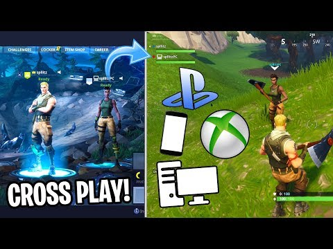 How to CROSS PLAY on FORTNITE! (PLAY with PS4, Xbox One, PC, and Mobile USERS!) (EASY METHOD)