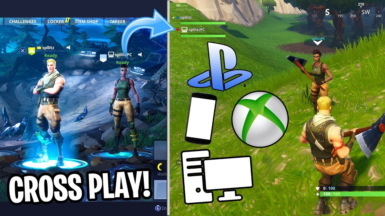 r/PS4 - How to play Fortnite together with your PC friends