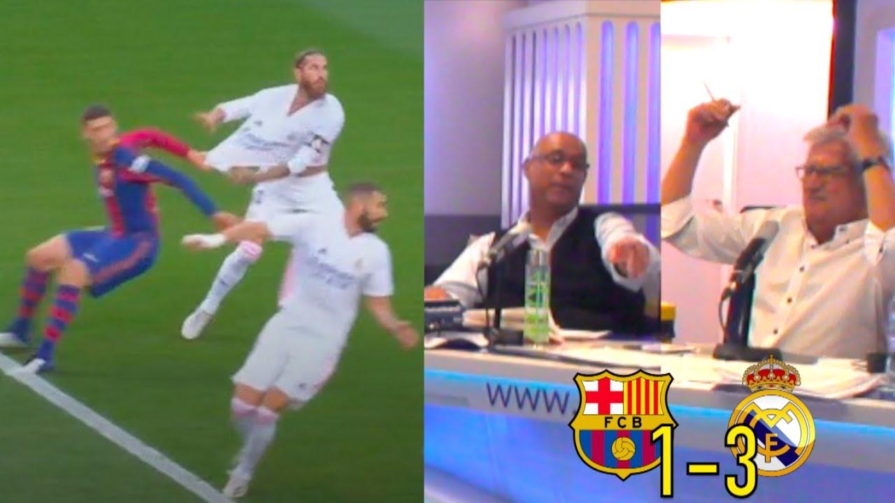 Así se vivieron los minutos de la tensión con el penalti a Ramos en El Clásico | COPE