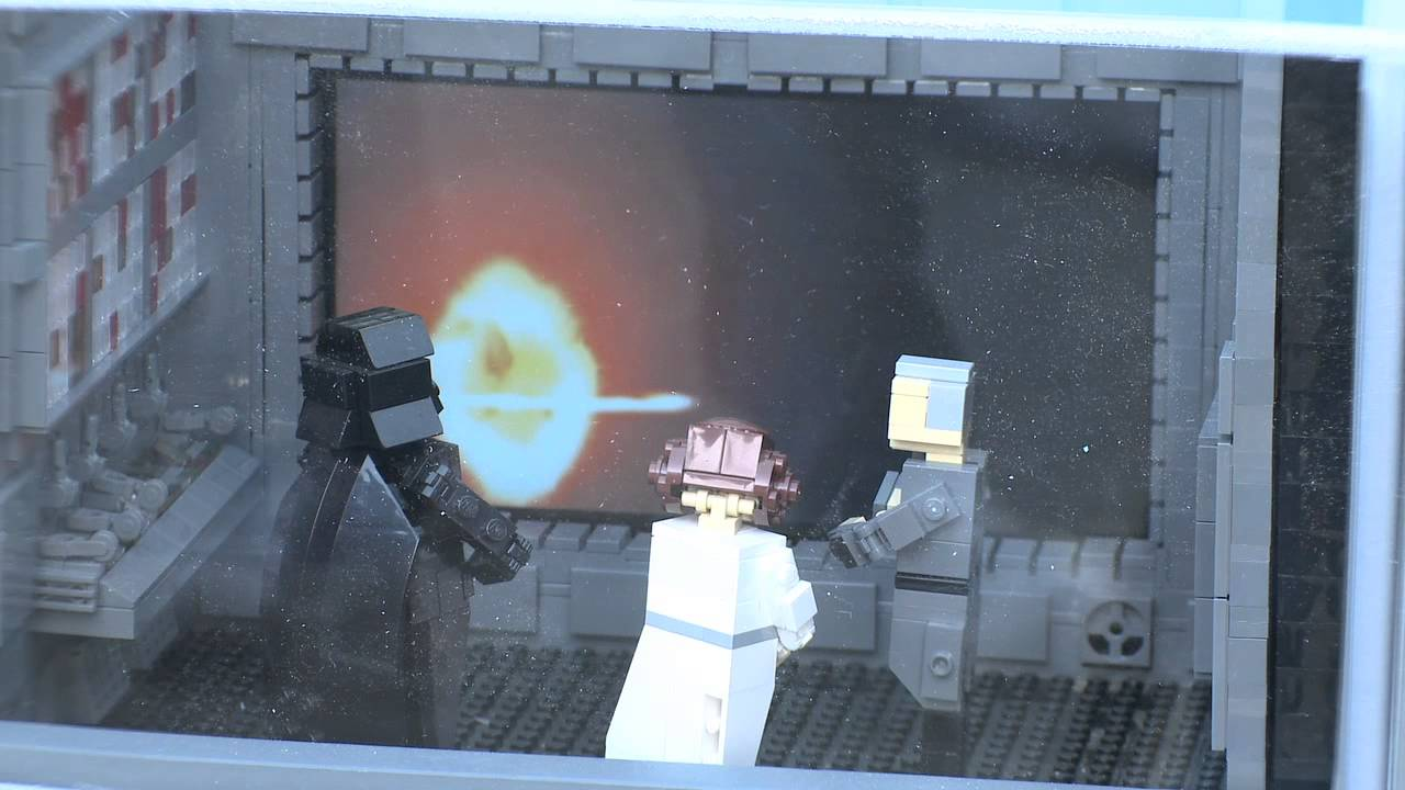 Lego Star Wars Miniland Death Star Model Display At Legoland