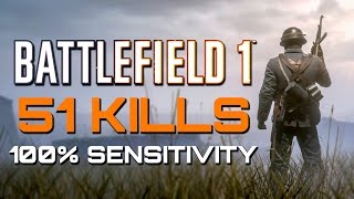 Battlefield 1 51 Kills On 100 Sensitivity With Controller Cam PS4 PRO Multiplayer Gameplay