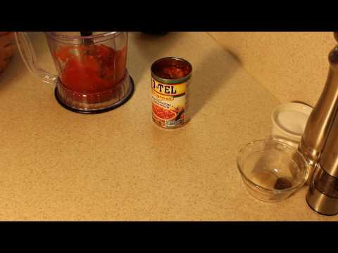 Making salsa with canned diced tomatoes