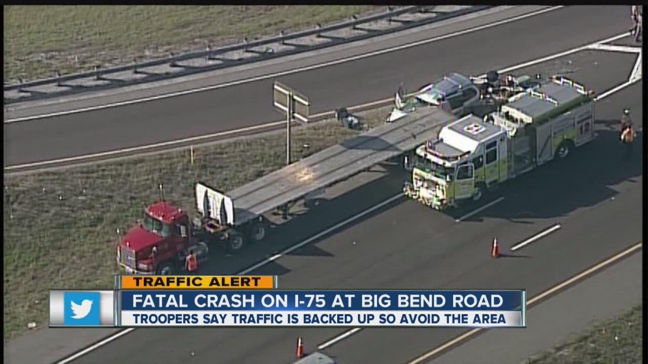 Hillsborough deputies: Southbound I-75 at Big Bend Road down to one lane  after traffic crash
