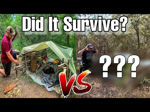 Did It Survive? $3 Tarp Shelter Vs 6 Months In The Wild!