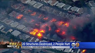 Lilac Fire Destroys Homes, Kills Horses In San Diego County