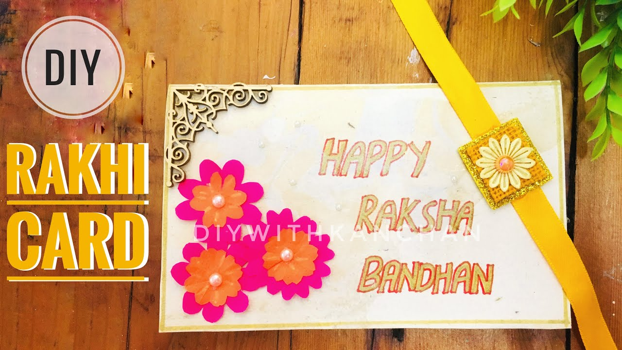 photo relating to Raksha Bandhan Printable Cards titled Paper Rakhi Card Craft Thought Raksha Bandhan 2019 Basic Present Thought Paper Flower Card