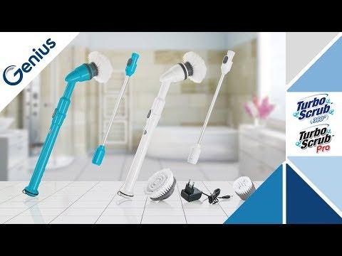 BLINNGO Brosse Nettoyage Electrique de Salle de Bain,Brosse Rotative Nettoyage,Turbo Scrub,pour l/'Int/érieur et l/'Ext/érieur