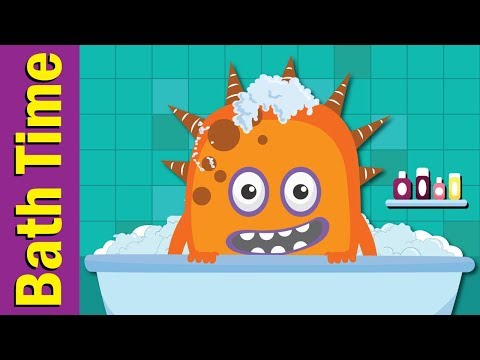Bath Time Song | Learn Body Parts in English