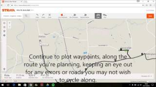 Creating a route on Strava and upload it to a Garmin.