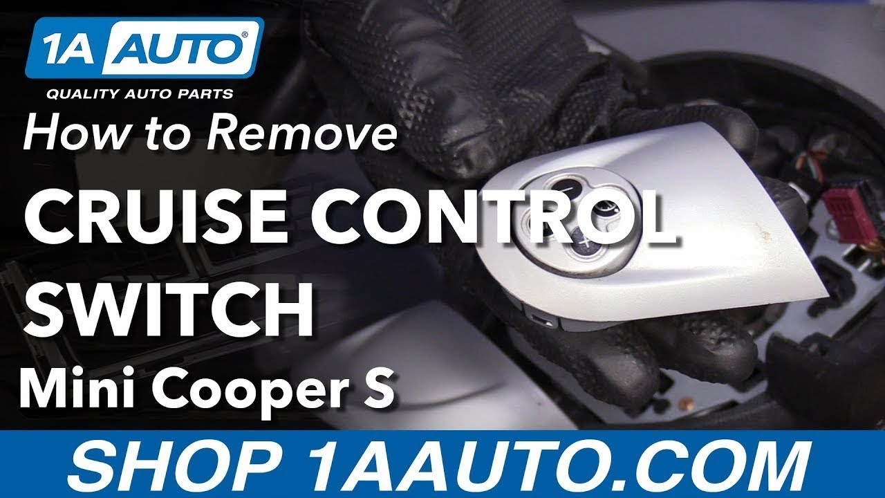 How to Remove Cruise Control Switch 07-11 Mini Cooper S - YouTubeYouTube