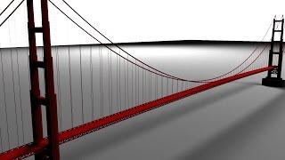 Maya 2014 tutorial : Modeling the Golden Gate bridge