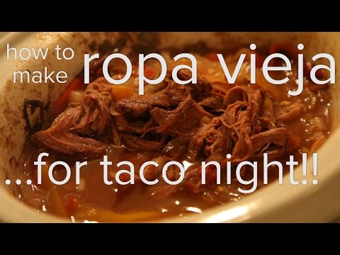 How To Make Ropa Vieja In A Crock Pot: Slow Cooker Dish For Taco Night!