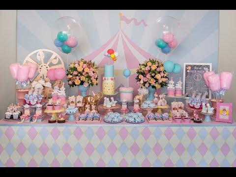 Produção de Festa Infantil - Circo Rosa / Circo de Menina