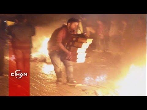 Fenerbahçeli taraftarlar GS Store'u yağmaladı