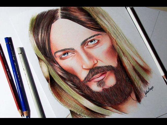 Desenhando Jesus Cristo Speed Drawing Jesus Christ Youtube