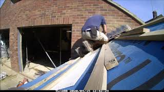 Hazel Build Weeks 9-10 installing insulation and roof roof tiling how to