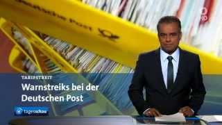 01.04.2015 Warnstreik bei Post,  ARD Tagesschau
