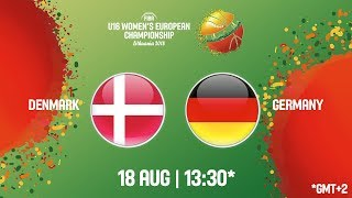 LIVE 🔴 - Denmark v Germany - FIBA U16 Women