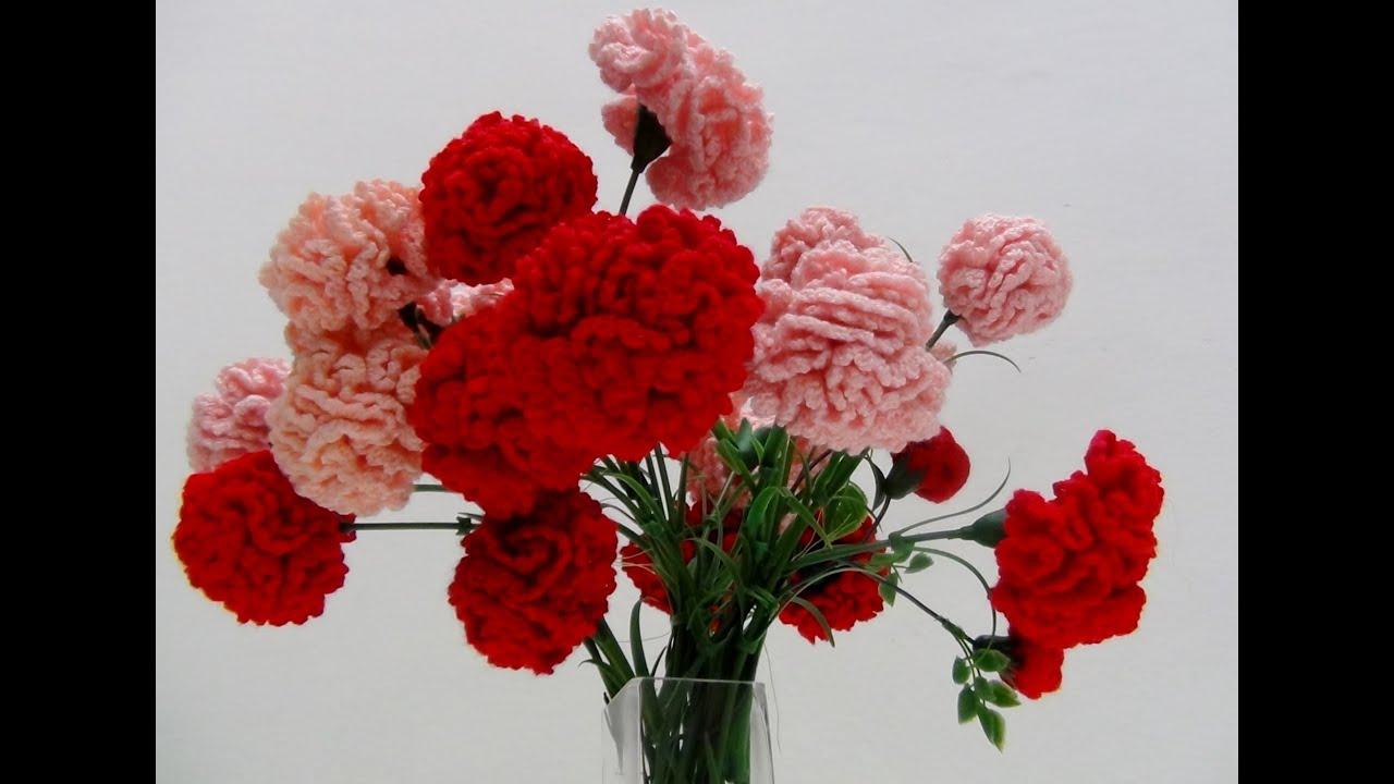 Flores de crochet - Claveles y Rosas de Pitiminí de ganchillo hechas ...