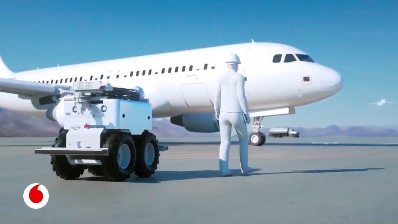 Drones y realidad aumentada que se ocupan de la seguridad de los aviones