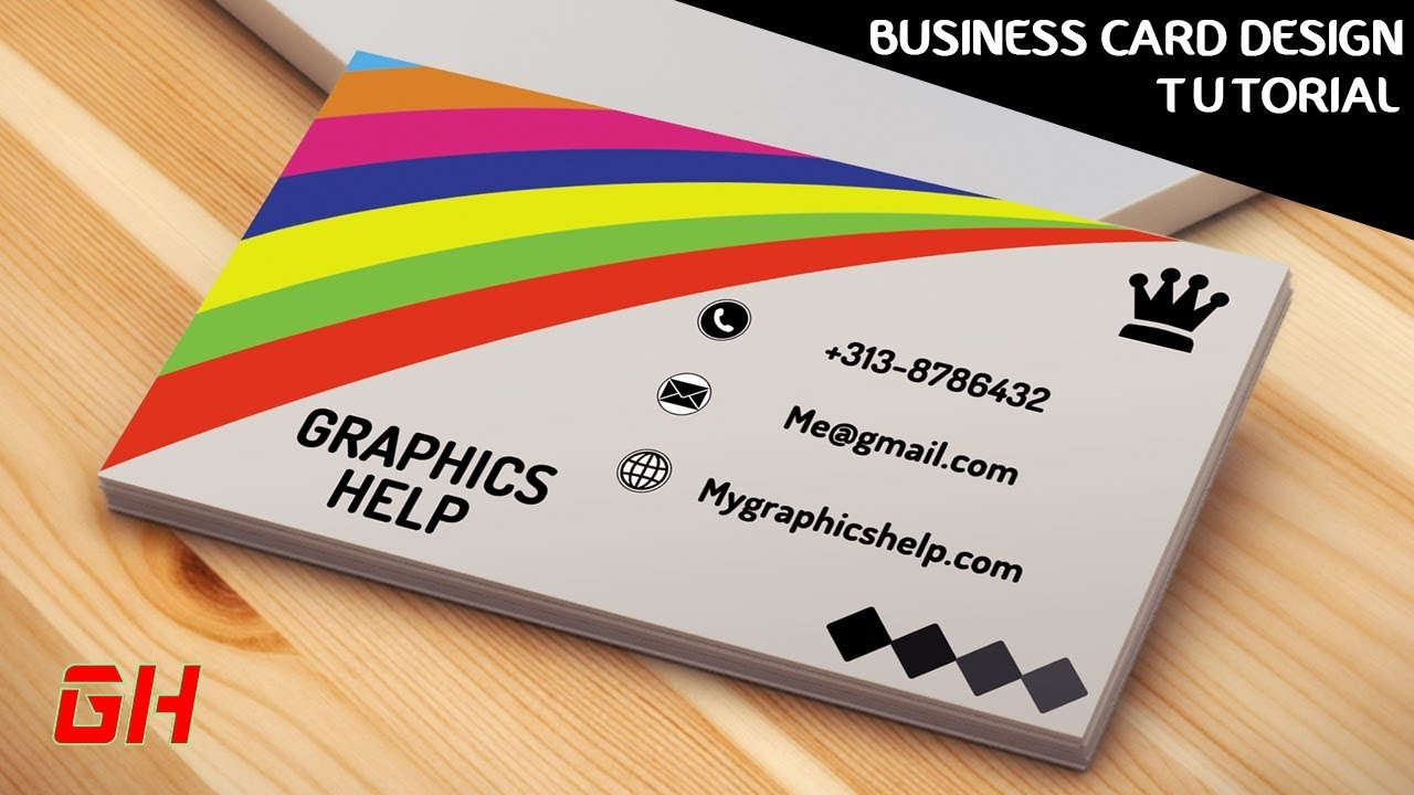 How to create flex banner design visiting card business card how to design a colorful business card in photoshop ps tutorial reheart Image collections
