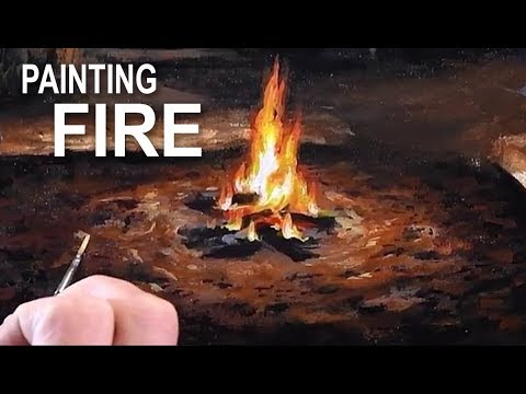 How To Paint A Campfire | Acrylic Painting Techniques